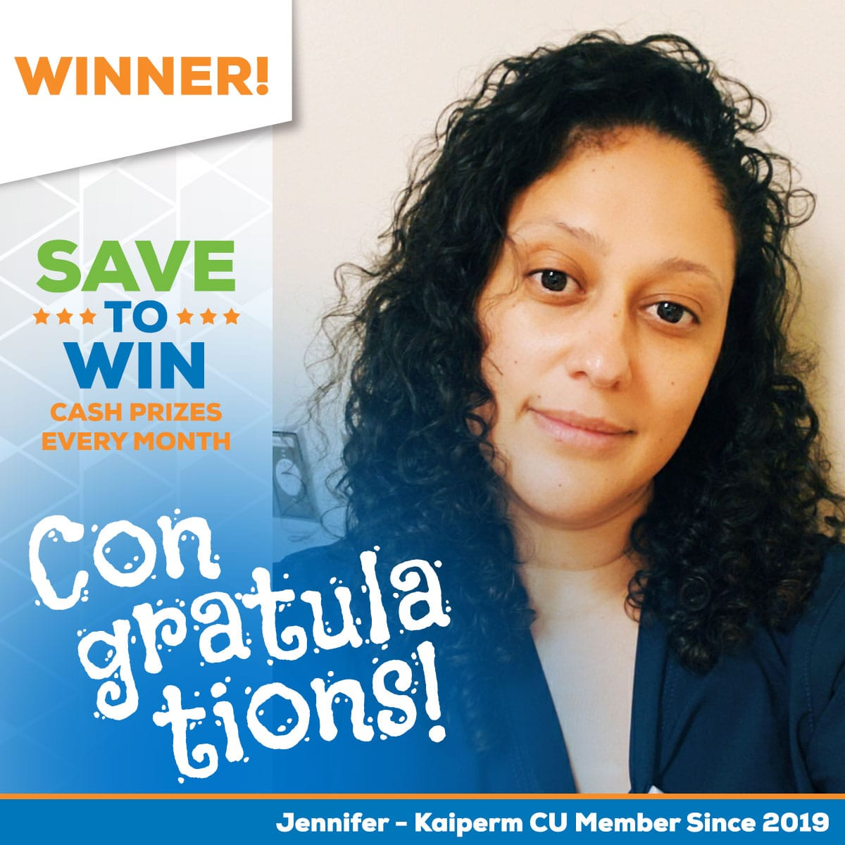 Save to Win Winner Jeniffer