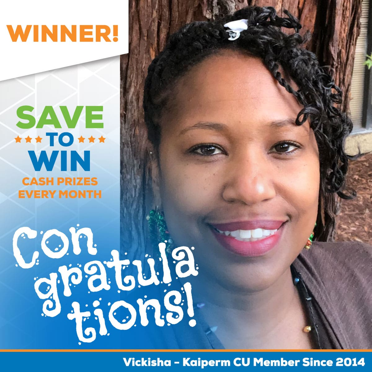 Save to Win Winner Keys-Vickisha