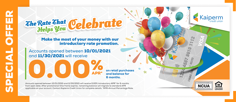 The Rate That Helps You Celebrate